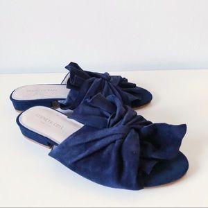 """Kenneth Cole """"Vinessa"""" suede tie slide sandals"""